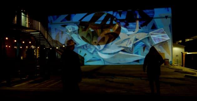 Illuminous: Interactive Projection Mural