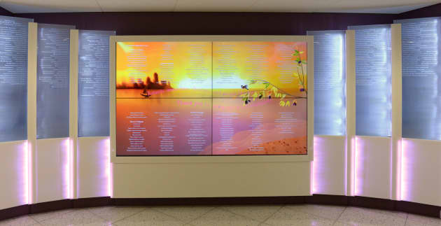Boston Children's Hospital Interactive Digital and Crystal Donor Wall