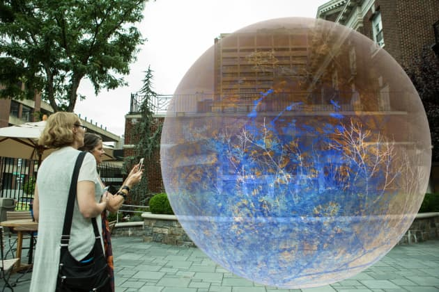Daydreams: An Augmented Reality Art Installation