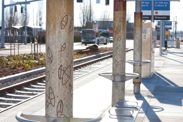 TriMet's Portland-Milwaukie Light Rail Station Mosaics