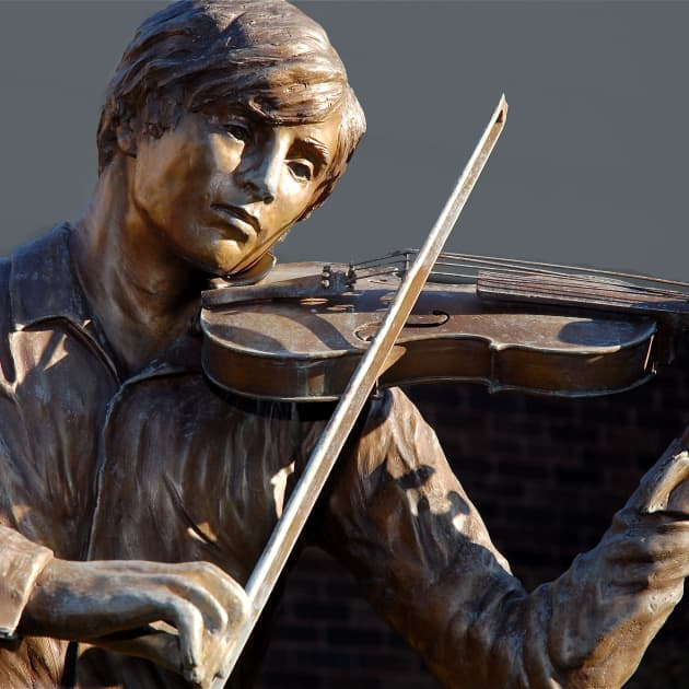 The Violinist-Bert Smith Memorial Garden-Flint Institute of Music