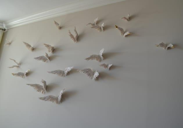 Custom Porcelain Wing Installations