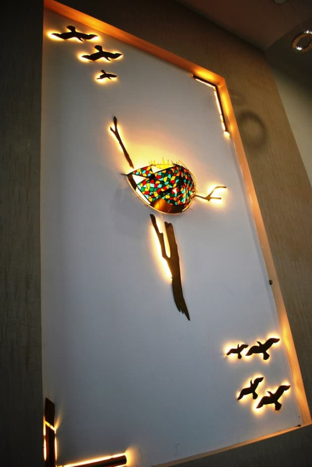 Nature with Steel, Stain glass & light