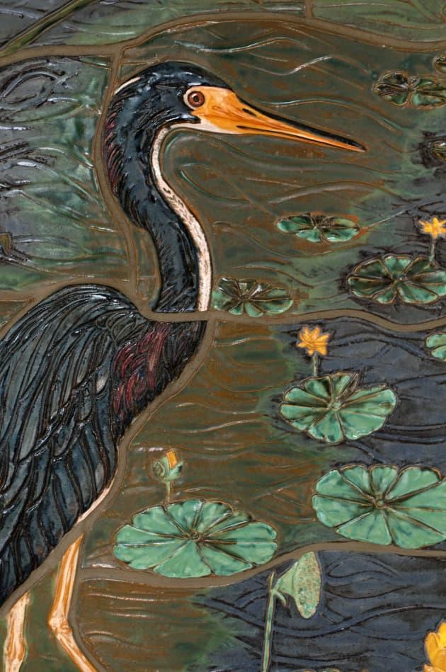 """Serenity Shared"" Sculpted Tile Mural"