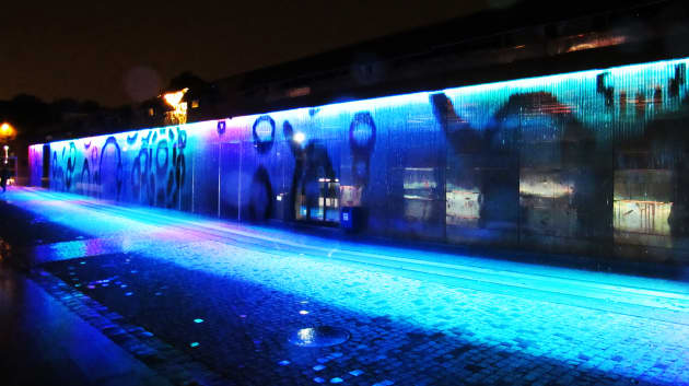 Digital Water Wall at Hydropolis
