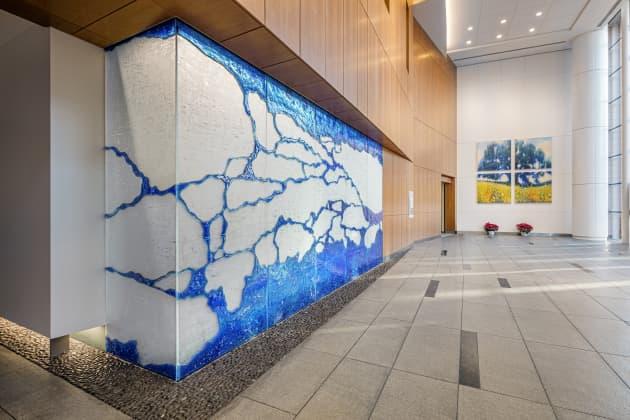 Stamford Hospital, Carey Interfaith Chapel, Art Glass Wall