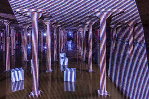 Carlos Cruz-Diez at the Cistern: Spatial Chromointerference