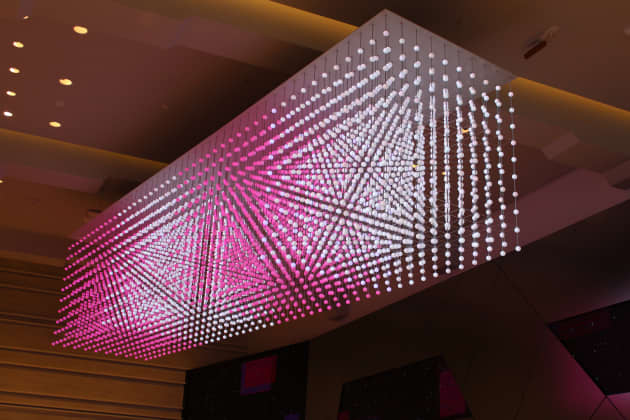 T-Mobile Voxel Chandelier