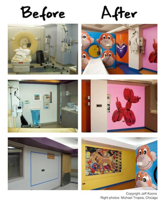 Jeff Koons at Advocate Children's Hospital