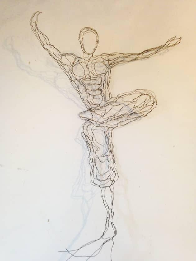 Zengo Restaurant, Wire Wall Art Mural