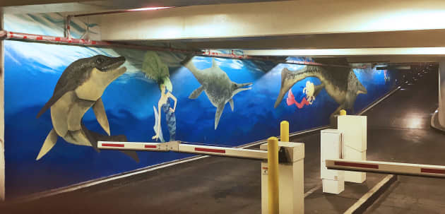 Neonopolis Parking Garage Mural