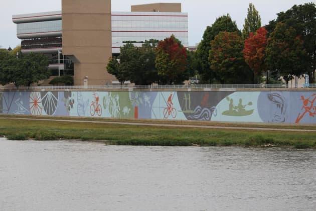 Riverscape River Run Mural