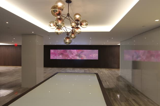 Corporate Briefing Center, video walls, Fine Art in motion