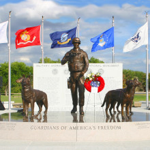 U.S. Military Working Dog Teams National Monument and the Not Forgotten Fountain
