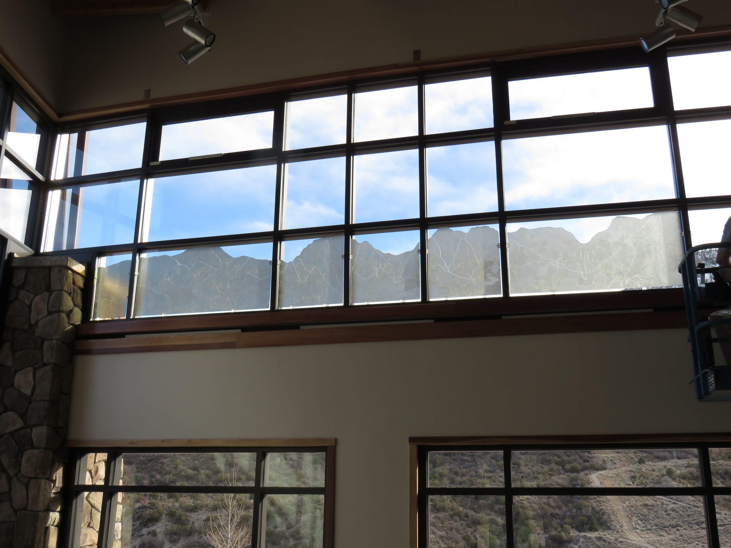 Spring Mountains Visitor Gateway Interactive Polarized Light Window Installation - CODAworx