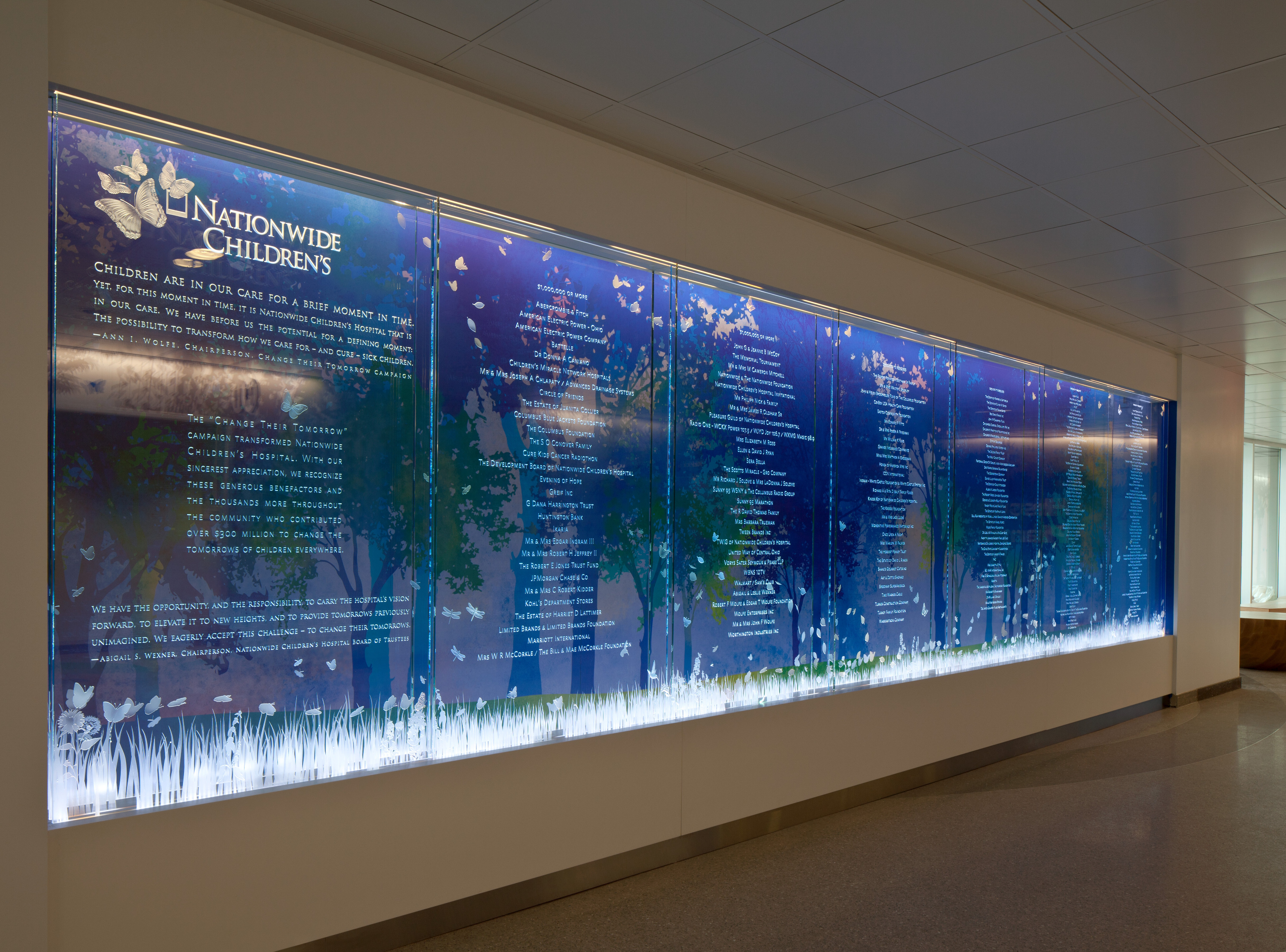 Project Art Glass Donor Wall Codaworx