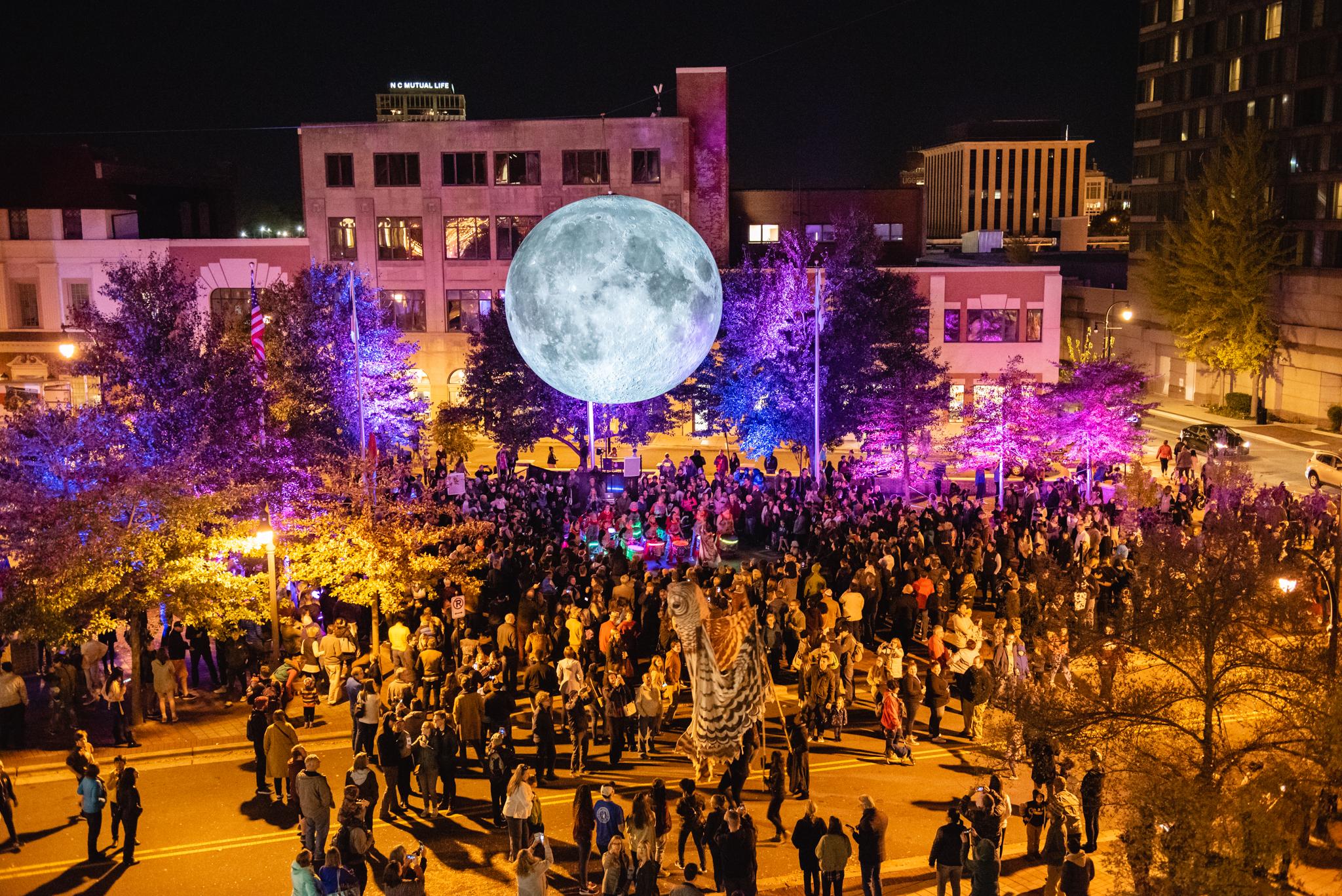 Bull Moon Rising and the Illumination of Historic Parrish Street
