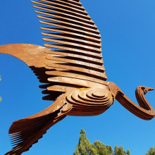 EGRET sculpture at The Lakes of Tempe
