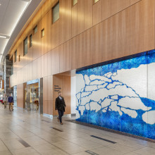 Stamford Hospital, Carey Interfaith Chapel, Art Glass Wall