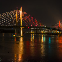 Tilikum Light: An Illuminating Conversation Between a River and a Bridge