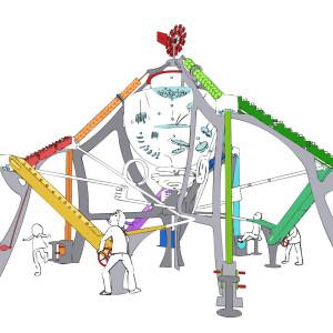 Kinetic sculpture ENERGY