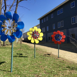 Epic Kinetic Windflower Sculptures