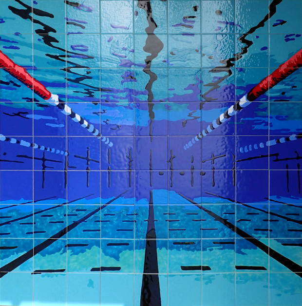 Miami Springs Aquatic Center - Ceramic Tile Murals