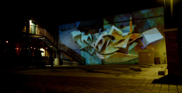 Illuminous: Interactive Projection Mural