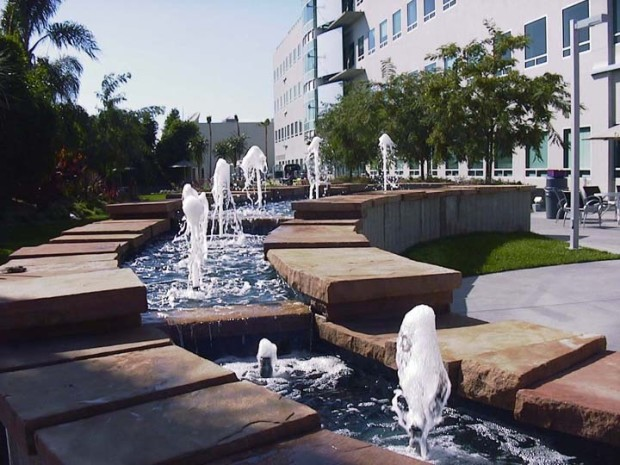 Fibonacci Water sculpture