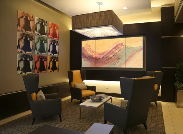 Project: Apartment Building Lobby, video walls, Fine Art in ...