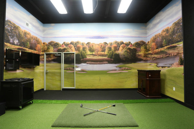 Project golf simulator room codaworx for Interior design room simulator