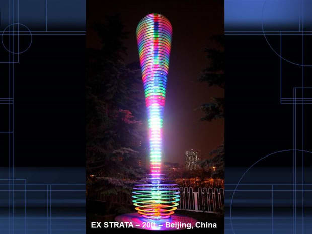 EX STRATA #3 – Internet, Light and Sound Sculpture