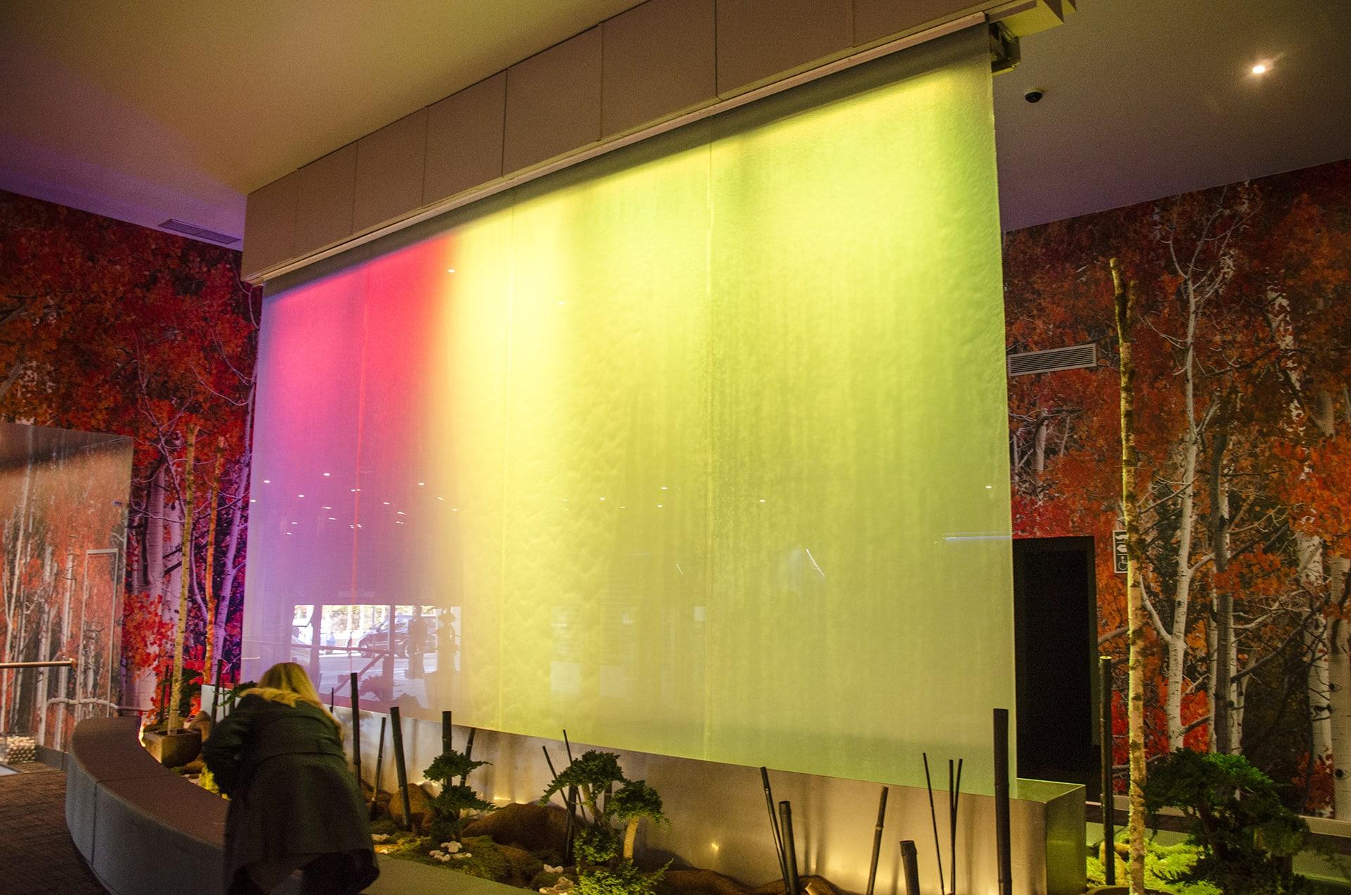 Digital Water Mural at Casino Madrid