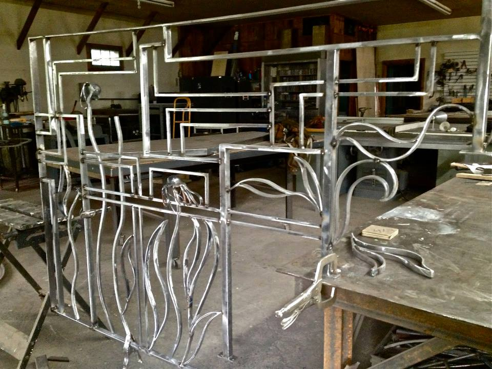 Echinacea Inspired Railing