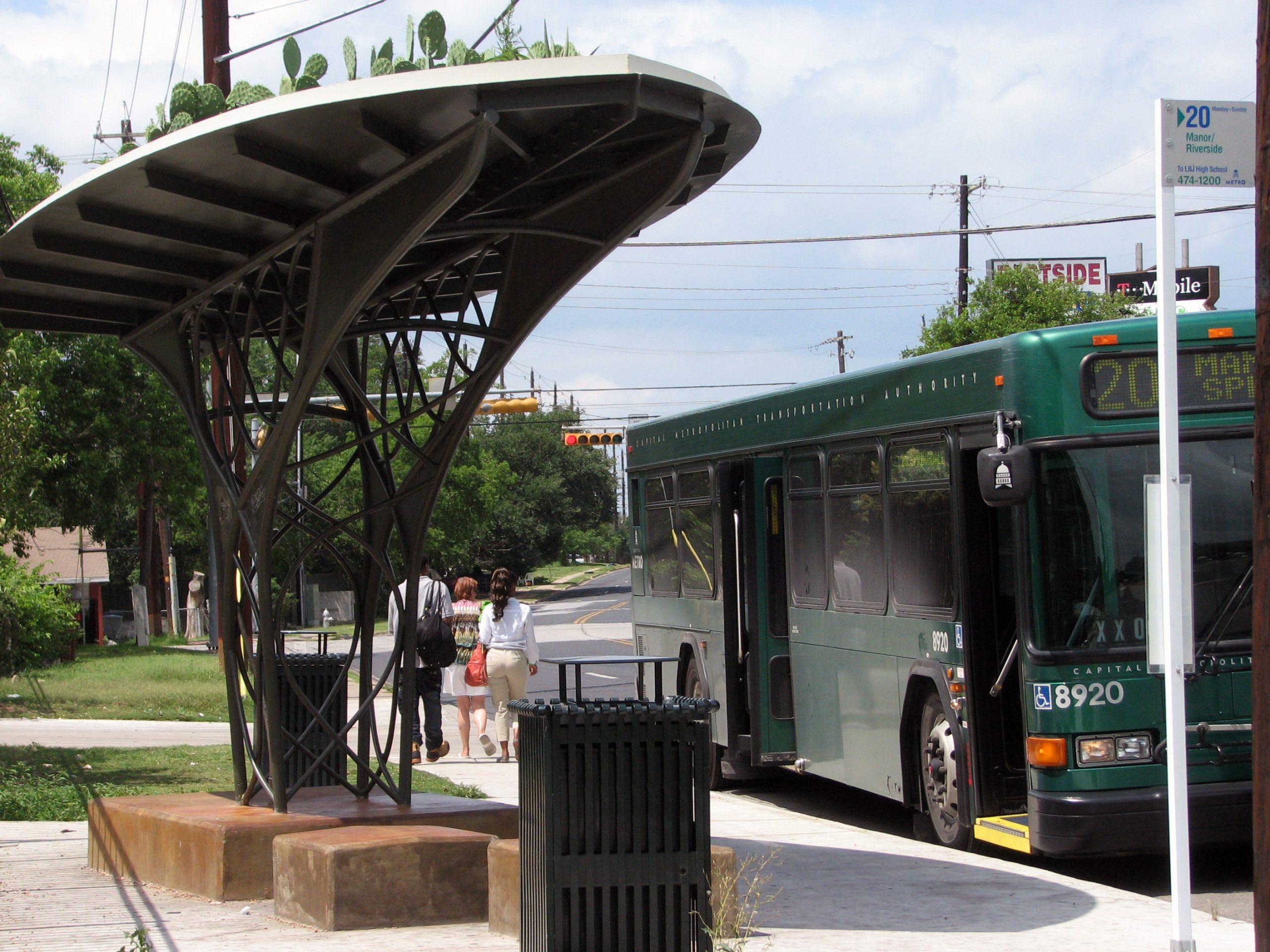 Pecan Springs Bus Shelter