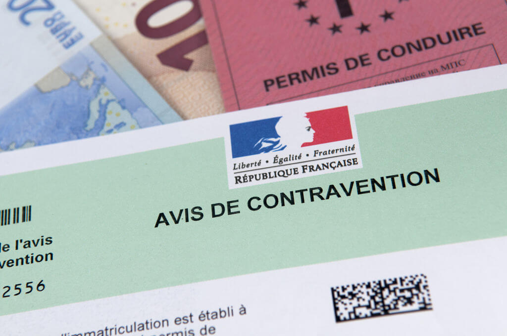 permis à points avis de contravention
