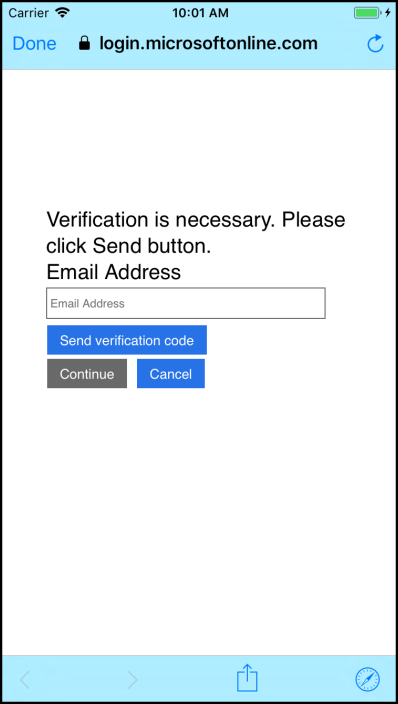 Changing Passwords and User Info with Azure AD B2C