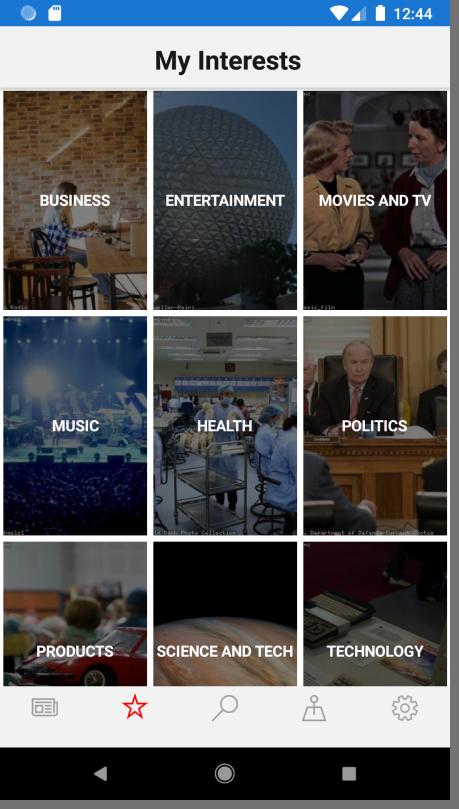 favorite screen in app