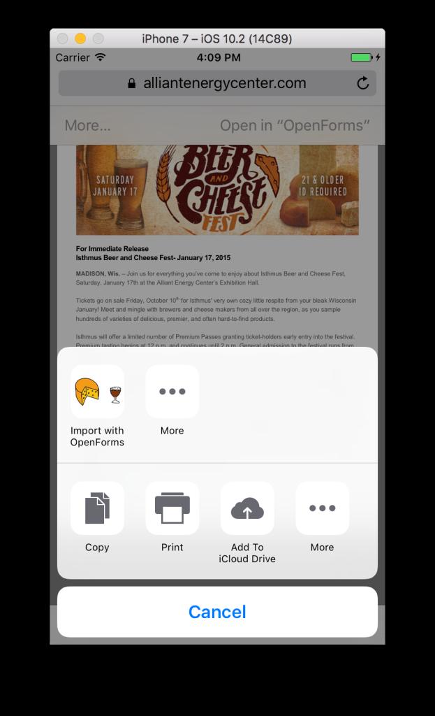 Sending Files to a Xamarin Forms App - Part 1: iOS