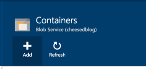 Add Container Button