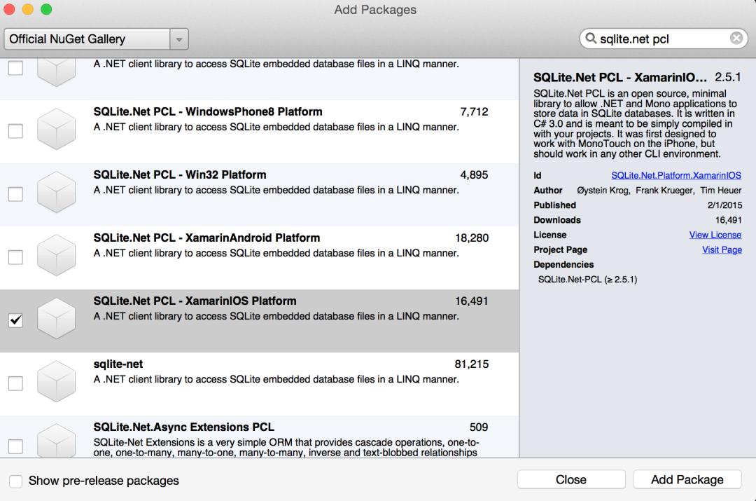 Platform Dependent SQLite.Net