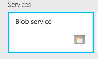 Blob Services Tile