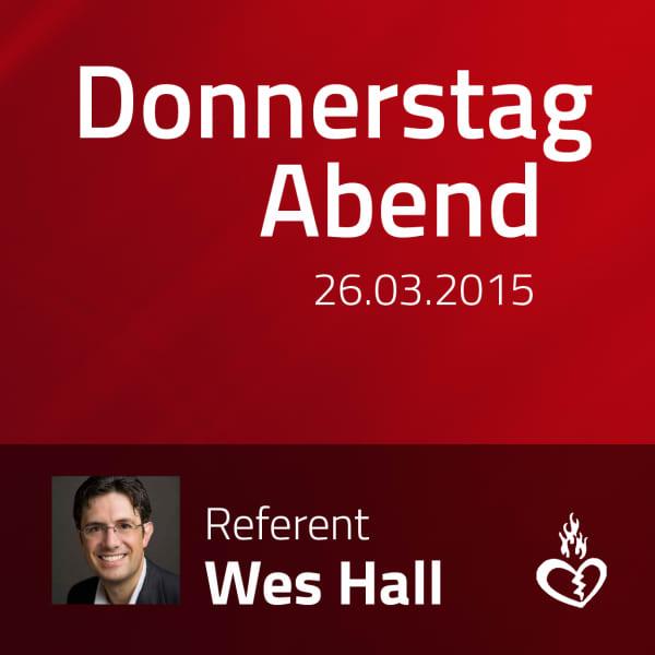 Vortrag mit Wes Hall