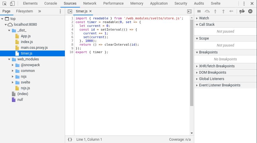 web tools sources tab