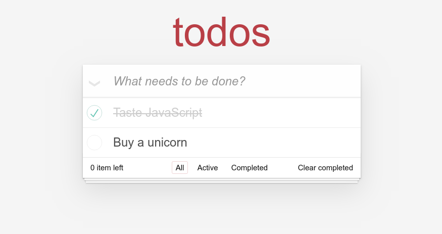 todo app static version