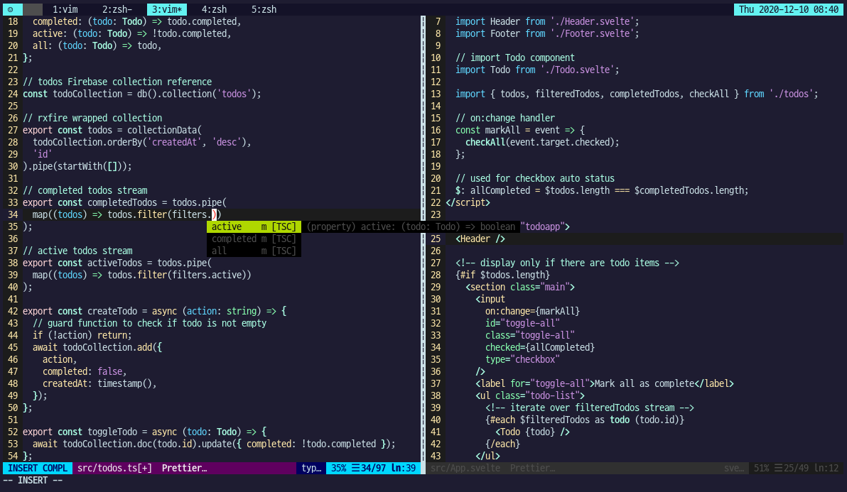 Vim with Svelte and TypeScript