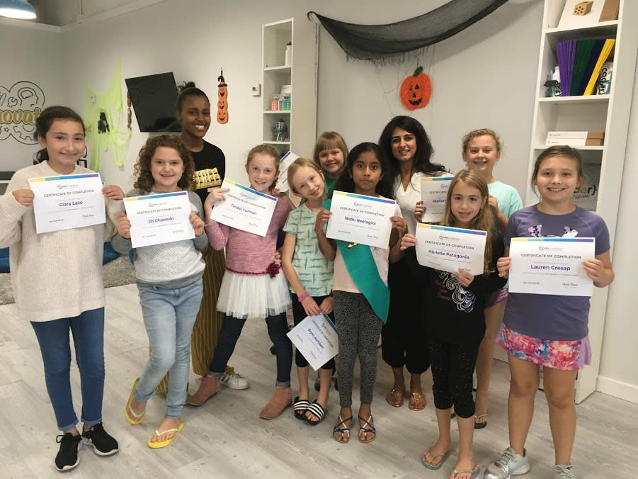 Girl Scouts Earning Cyber Security Badge