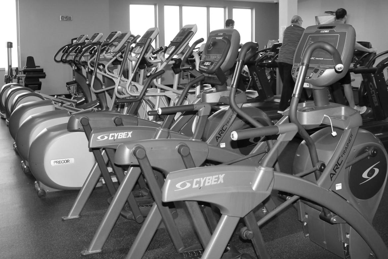 Cybex bikes and Precor ellipticals