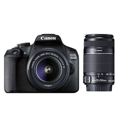 CANON 1500D WITH 18-55 AND 55-250MM IS II COMBO KIT