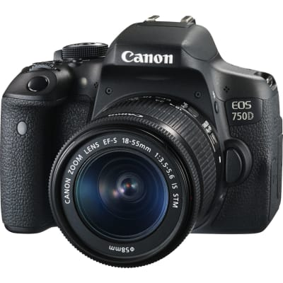 CANON 750D WITH 18-55MM IS STM LENS